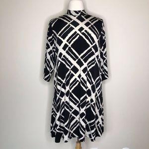 Tiana B. Black Tan Mod Shift Dress